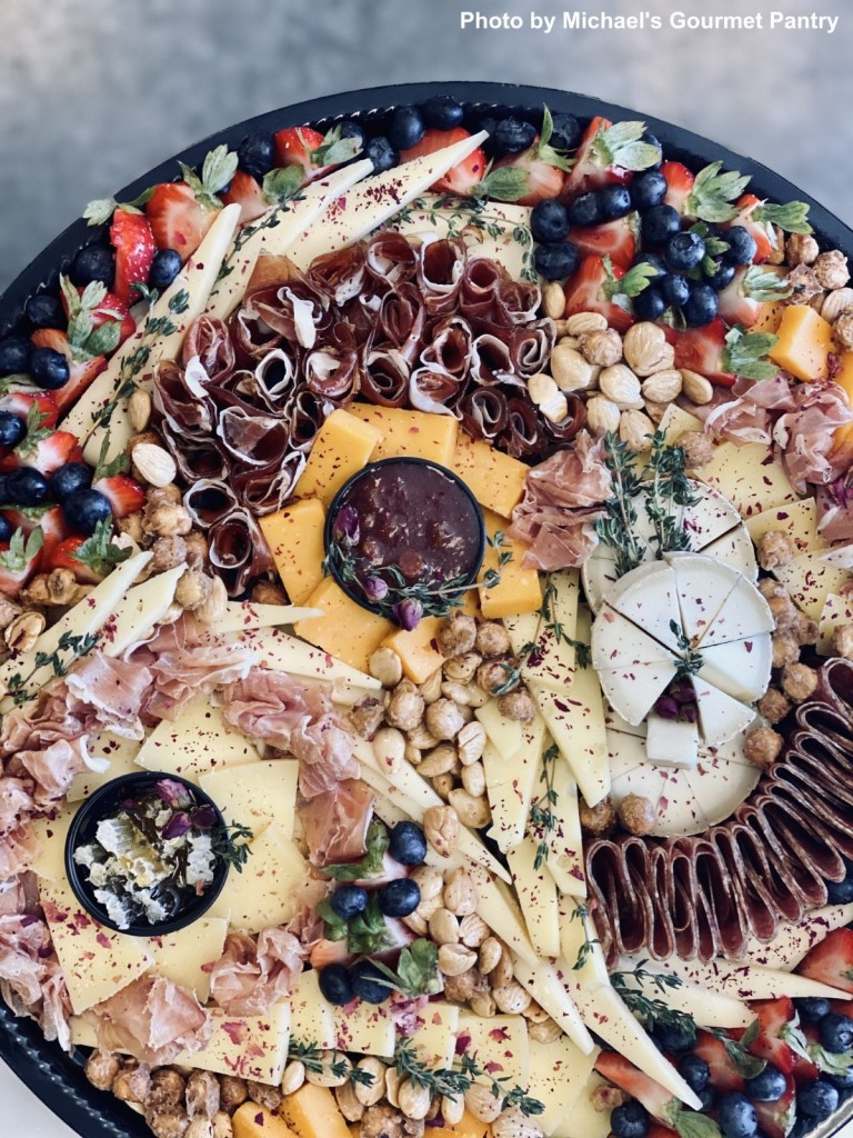 A bountiful cheese and charcuterie platter. Photo by Michael's Gourmet Pantry.